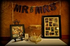 I like the idea of having pictures by the card box. They've got to fit in somewhere!