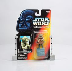 Star Wars Yoda with Jedi Tainer Backpack The Power Force action figure NIB