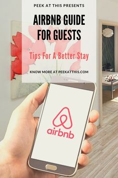 Looking at an Airbnb For your next vacation. There are many things about booking an Airbnb that many guest should know before looking at Airbnb as an accommodation for his/her next holiday. Check out this Airbnb Guide For Guests - Tips For A Better Stay Hotel Airbnb, Airbnb Rentals, Ways To Travel, Travel Tips, Travel Hacks, Best Flight Deals, Best Flights, Future Travel, Packing Tips