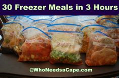 30 Summer Freezer Meals in 3 Hours - Who Needs A Cape? Addresses already frozen chicken