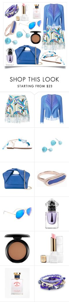 """Flutter Tulle Cardigan..**"" by yagna ❤ liked on Polyvore featuring MSGM, Pleats Please by Issey Miyake, Aquazzura, Amber Sceats, J.W. Anderson, Monica Vinader, Ray-Ban, Guerlain, MAC Cosmetics and Brooks Brothers"