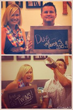 Our #twin #pregnancy announcement!