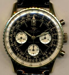 MAGNIFICENT 18KGF VINTAGE BREITLING 1966 TWIN JET NAVITIMER 806 MILITARY CAL 178