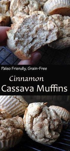 Grain Free Cinnamon Cassava Muffins made using Ottos Naturals Cassava Flour