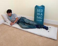 bed in a bag sleepover in blue velvet ottoman   bedrooms   pinterest  rh   pinterest