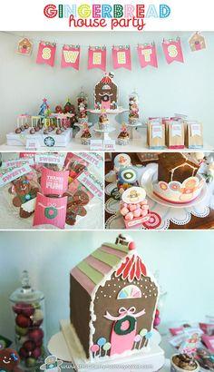 Gingerbread House Party with So Many Cute Ideas via Kara's Party Ideas | KarasPartyIdeas.com #GingerbreadHouse #ChristmasParty #PartyIdeas