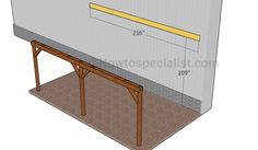 This step by step diy woodworking project is about how to build an attached carport. Learn how to build a carport attached to an already existing building, by paying attention to the instructions described in the article. Plan Carport, Building A Carport, Diy Carport, Pergola Plans, Pergola Kits, Building Plans, Patio Plans, Pergola Ideas, Outdoor Ideas