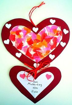 Mother's Day heart for the window - Mother's Day-tinkering - My grandchildren and me - Basteln - Valentines Day Valentine's Day Crafts For Kids, Mothers Day Crafts, Valentine Day Crafts, Flowers For Mom, Heart Template, Heart Crafts, Valentines Day Decorations, Book Gifts, Flower Crafts