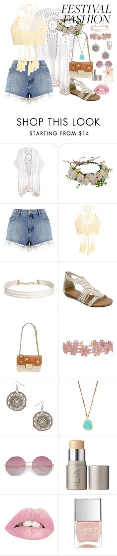 """Crochet"" by lily-mitchell ❤ liked on Polyvore featuring Miss Selfridge, Humble Chic, Olivia Miller, Dorothy Perkins, Native Gem, Ilia, Nails Inc. and Marc Jacobs"