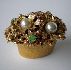 Vintage Jeweled Box Florenza 1950s