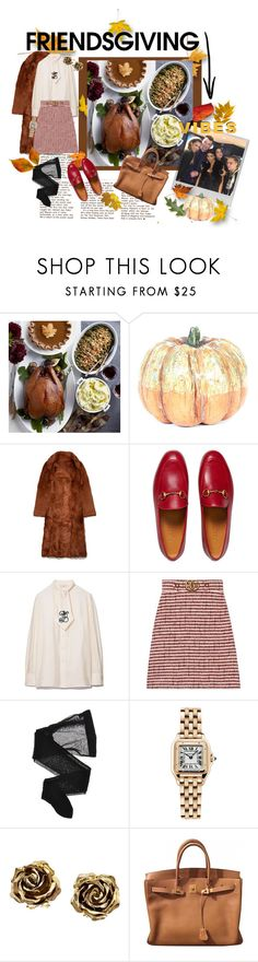 """""""Friends giving: Celeb Edition"""" by cadent1029 ❤ liked on Polyvore featuring Williams-Sonoma, Polaroid, Tory Burch, Gucci, Wolford, Cartier, Tiffany & Co. and Hermès"""