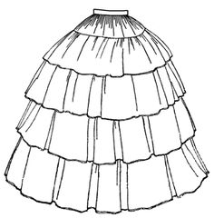 1854 Flounced Skirt. This will be the basis of a victorian ere vampire costume I want to make (sometime). Already have a beautiful korset to go with it ^.^