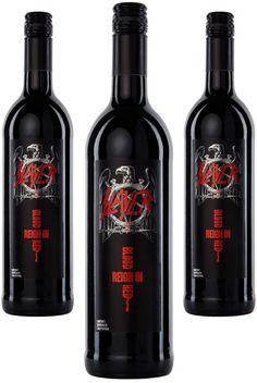 Heavy Metal Wine: Slayer 'Reign in Blood' Red Cabernet Sauvignon Musica Heavy Metal, Heavy Metal Music, Cabernet Sauvignon, Whisky, Reign In Blood, New Wave, Wine Brands, In Vino Veritas, Wine Online