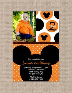 Halloween Mickey Mouse Birthday Party Invitations  by Honeyprint, $15.00