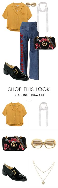 """""""Untitled #322"""" by ducle1910 ❤ liked on Polyvore featuring Gucci, Christian Dior, Joan & David and Lipsy"""