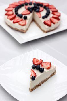 "No-Bake Vegan ""Cheesecake"" – Gluten-free + Refined Sugar-free"