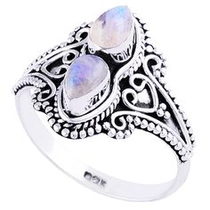 Earth Moonstone Ring - BOHOMOON