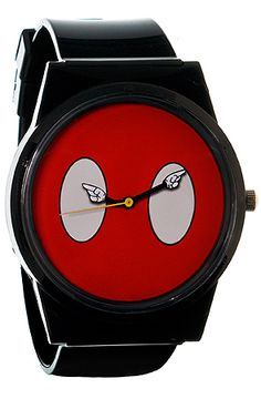Flud Watches The Mickey Mouse Buttons Pantone Watch in Red Black