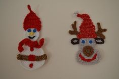 Crochet Christmas Decorations, Crochet Ornaments, Christmas Home, Reindeer Christmas, Christmas Ornaments, Crochet Gifts, Crochet Accessories, Gift Tags, Snowman