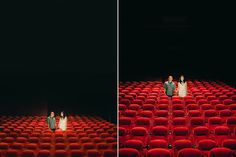crazy creative engagement photo in theatre seating...this image sucks but there are a million poses in diff places on this site!!!