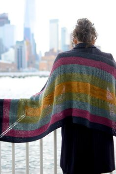 Ravelry: Fort Tryon Wrap pattern by Kirsten Kapur Knitted Shawls, Crochet Scarves, Knit Crochet, Free Knitting, Knitting Patterns, Prayer Shawl, Wrap Pattern, Neck Warmer, Shawls And Wraps