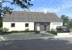 Maison 2 chambres avec enduit blanc et gris pour le porche d 39 entr e elle - Maison grise et blanche ...