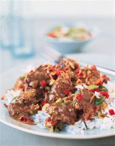 South Seas Currried Beef over Jasmine Rice --