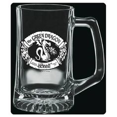 The Hobbit The Green Dragon Premium Etched Glass Stein - Taverncraft - Hobbit / Lord of the Rings - Mugs at Entertainment Earth