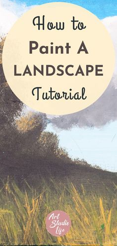 Join in on learning how to Paint a Landscape - in this step by step landscape painting tutorial. Painting tips for beginners. Easy landscape painting. Landscape painting ideas. Landscape painting in oil paint. Oil painting landscape painting tutorial for beginners. Learn how to paint landscapes in this in depth tutorial #oilpainting #oilpaintingtutorial #paintingtutorial #howtopaint Oil Painting For Beginners, Painting Tutorials, Painting Tips, Easy Landscape Paintings, Your Paintings, Landscapes, Landscape Steps, Step By Step Painting, Learn To Paint