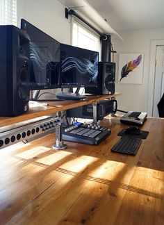 Reclaimed Wood Studio Desk