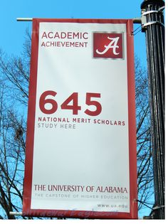 ❤️The academic achievement of The University are on display on flagpoles throughout campus. 645 Merit Scholars.