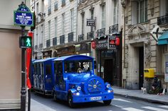 Blue train in Paris