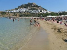 Lindos Beach - Information Travel - Places to Visit - Rhodes(Rodos) island Discount SmartCard  http://www.rhodesdiscount.com/view_place.php?url=lindos-beach#.UCYog2HXDsY