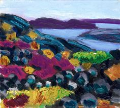 """""""Rainy, S Koster"""" 1961. Swedish Inge Schiöler (1908-1971) Another beautiful colorful painting. . His main techniques were oil and pastel, and he was one of Gothenburg Colourists ."""