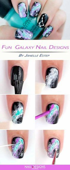 How To Make Galaxy Nails Doing This Right Now For Tomorrow When I Go