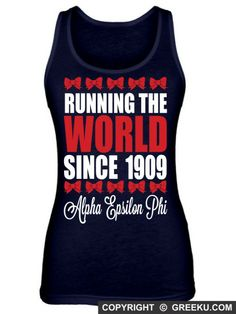 Alpha Epsilon Phi Running The World Poly-Cotton Unisex Tank Top
