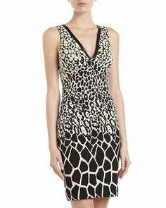 Giraffe-Print Sheath Dress by Nicole Miller at Neiman Marcus Last Call.