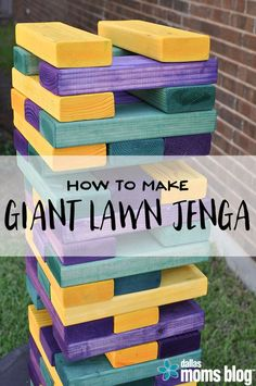 DIY Yard Games - Megan Harney for Dallas Moms Blog Jenga