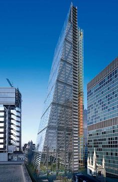 The Leadenhall building, designed by Richard Rogers, known as 'The Cheesegrater'.
