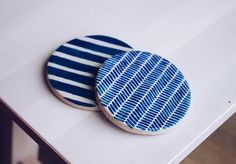 """247 Likes, 12 Comments - Debbie Nicholls (@debbie_in_london) on Instagram: """"I've been playing with pattern on coasters. I'm working on some plates at the moment and think I'm…"""""""