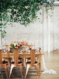 studio pink and rose gold reception decor