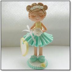bailarina porcelana fria fimo