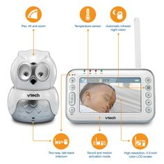 #giveaway : we are giving away one super cute owl monitor to a lucky parent this week!  Enter today #free #babymonitor #vtechnursery Project Nursery Decor - Blissfully Domestic
