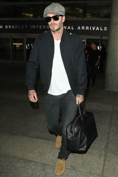 Arriving at LAX in Los Angeles.