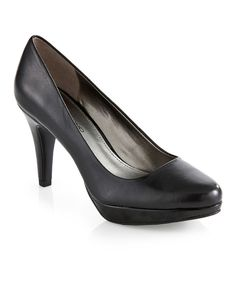 Look at this Black Capture Leather Pump on #zulily today!