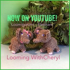 Rainbow Loom Elephant - Loomigurumi - Looming WithCheryl ( Looming With Cheryl ) Loomigurumi Tutorial is Now on YouTube! Charms / figures / gomitas / gomas / animals. Crochet hook only. Please Subscribe ❤️❤ m.youtube.com/user/LoomingWithCheryl