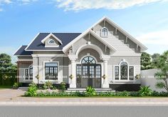 Beautiful House Plans, Modern House Plans, Modern House Design, Beautiful Homes, Classic House Exterior, Dream House Exterior, House Architecture Styles, Small House Exteriors, Architectural House Plans