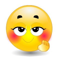 Se ruboriza cuando me ve Funny Faces Images, Emoji Images, Smiley Emoji, Blushing Emoticon, Lach Smiley, Emoji Board, Happy Smiley Face, Emoticon Faces, Naughty Emoji