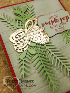 Pretty Pines Holiday Card   Patty's Stamping Spot   Bloglovin' More