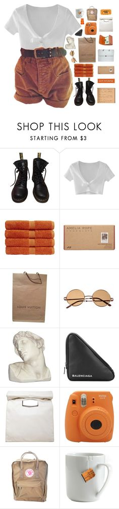 """""""ONLY YOU HAVE THAT MAGIC TECHNIC"""" by queen-bellaa ❤ liked on Polyvore featuring Dr. Martens, WithChic, Christy, Amelia Rose, Louis Vuitton, House Parts, Tommy Hilfiger, Balenciaga, Limi Feu and Fujifilm"""